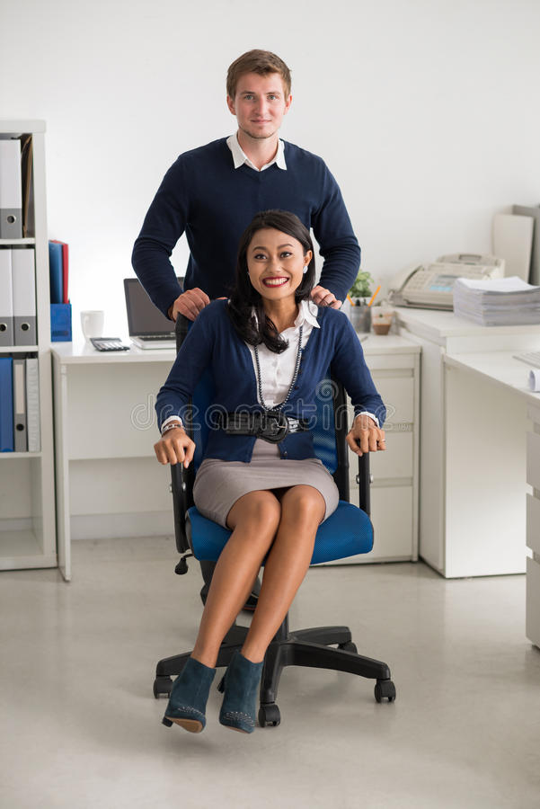 Happy business couple stock photos