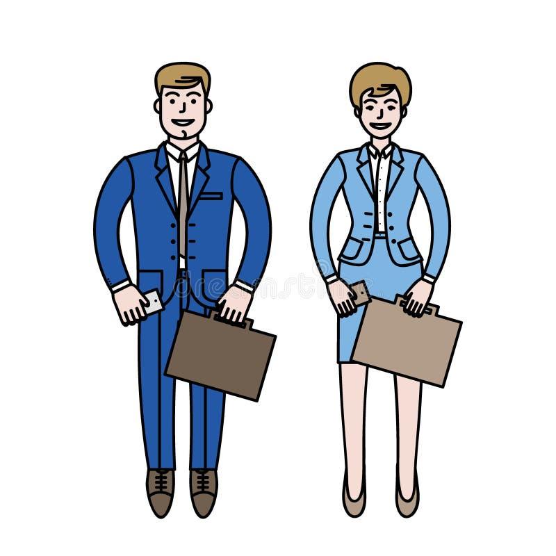 Happy business couple stock image
