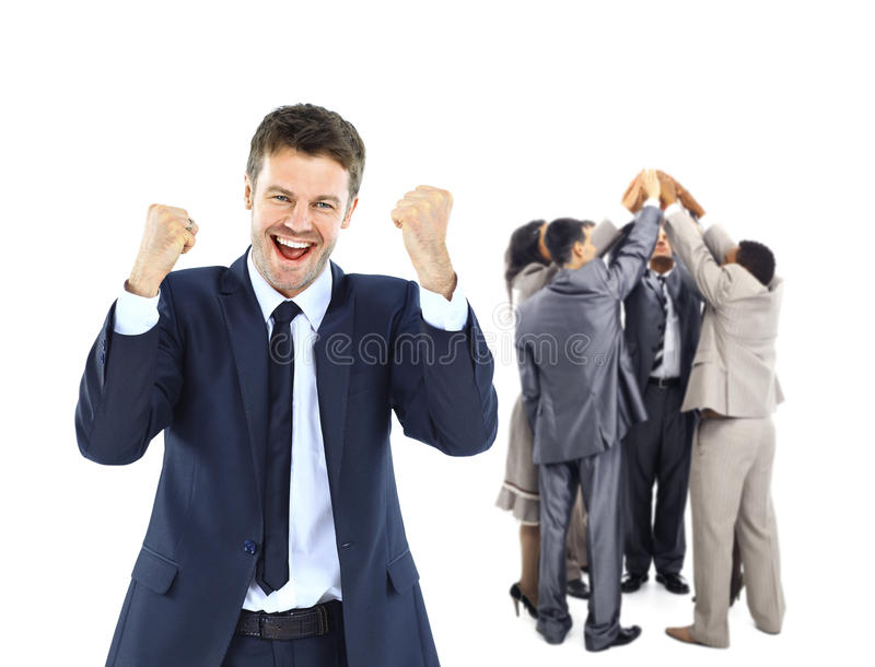 Happy business group. royalty free stock photos