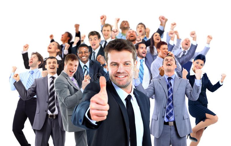 Happy business group. royalty free stock photography
