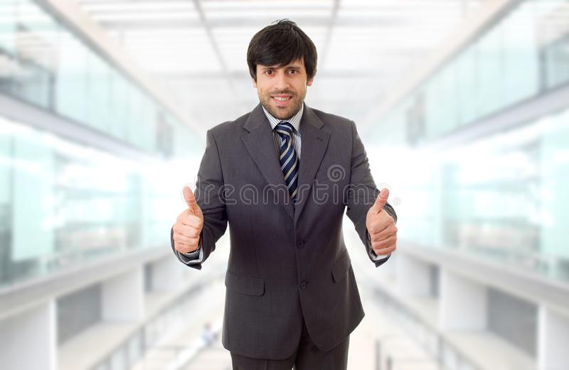 Businessman thumb up royalty free stock images