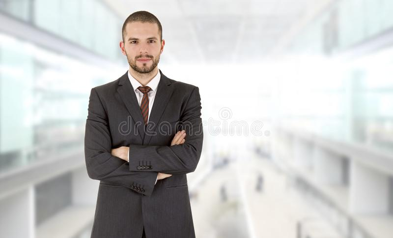 Happy business man. Portrait at the office royalty free stock photography