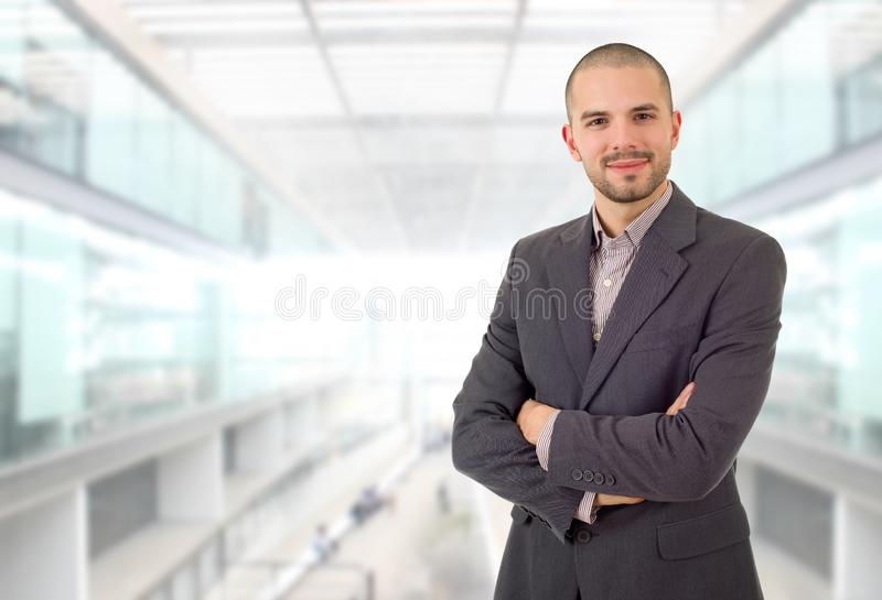 Business man. Happy business man portrait at the office stock image