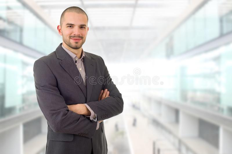 Business man. Happy business man portrait at the office royalty free stock photo