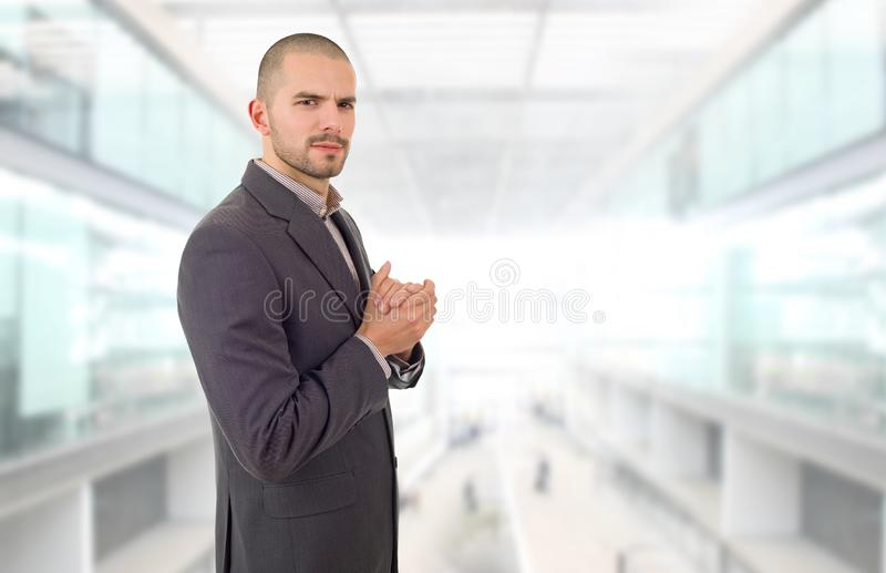 Business man. Happy business man portrait at the office royalty free stock photography