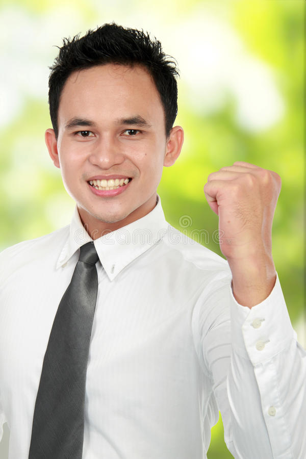 Happy business man success royalty free stock photography