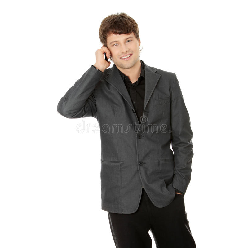 Download Happy Business Man Using Mobile Phone Stock Photo - Image: 17080882