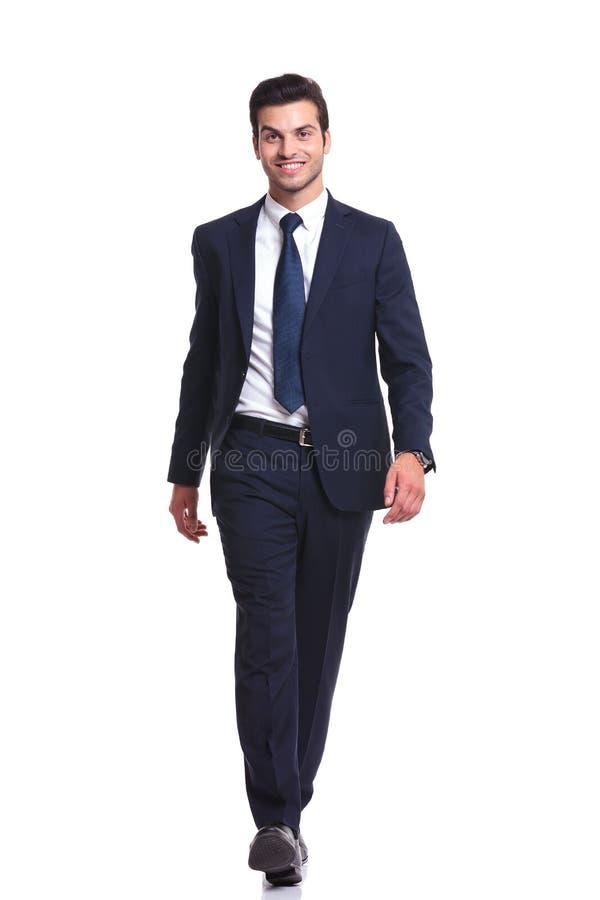 Free Happy Business Man Walking On White Studio Background Royalty Free Stock Photo - 45034935
