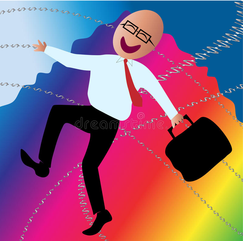 Happy Business Man stock images
