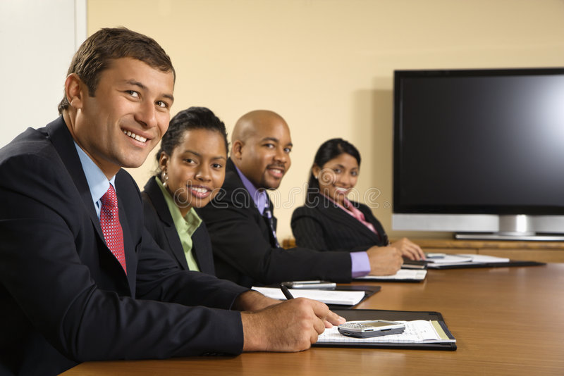 Happy business meeting. royalty free stock images