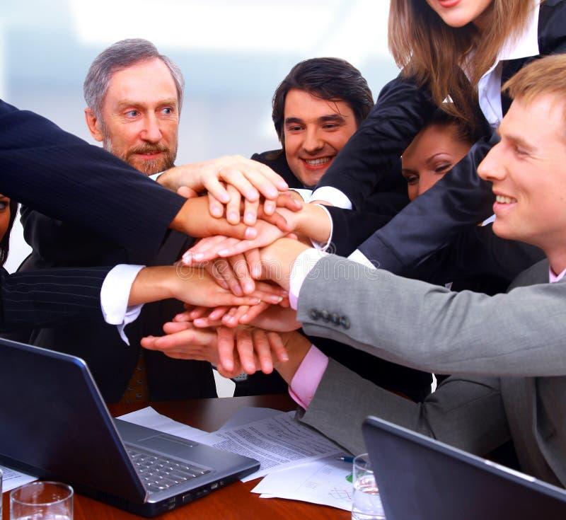 Happy business people stock photos