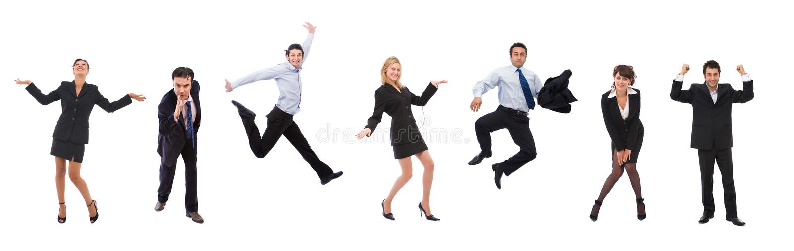 Happy business people stock photos