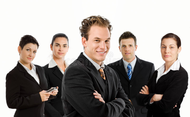 Happy business team royalty free stock photos