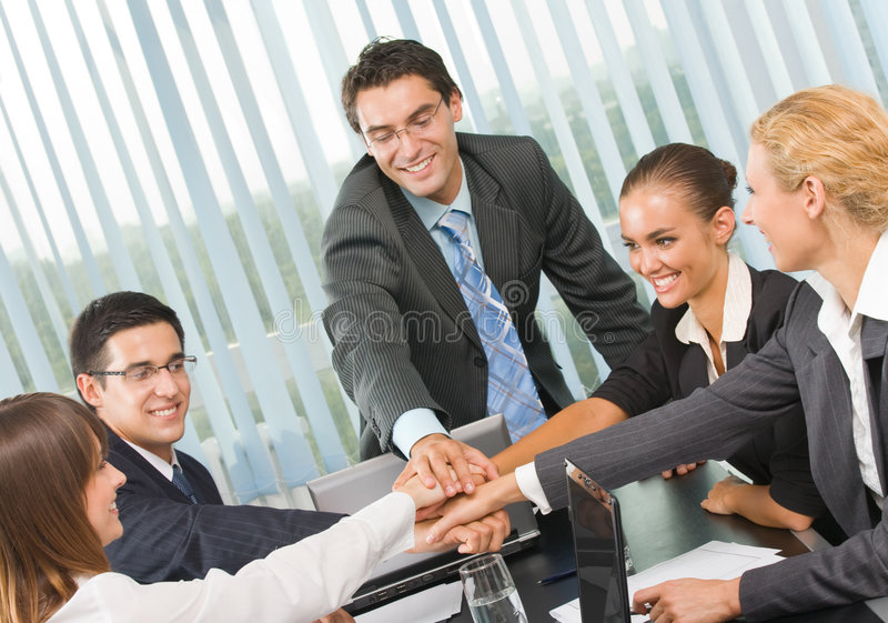 Download Happy Business Team At Office Stock Image - Image: 6370591