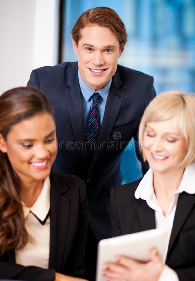 Download Happy Business Team At The Office Stock Photo - Image of manager, businesswomen: 35434174
