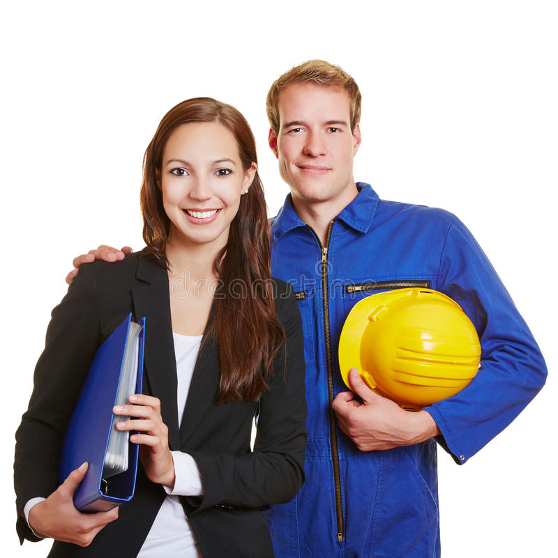 Download Happy Business Team With Worker Royalty Free Stock Images - Image: 34794089