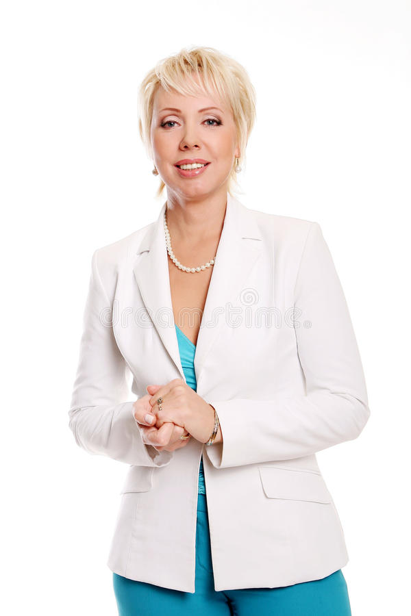 Download Happy  business woman stock photo. Image of adult, computer - 14851398