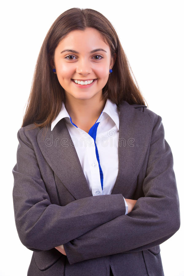 Happy  Business Woman Face Stock Photography