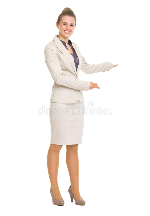 Download Happy Business Woman Inviting To Come Stock Image - Image: 31804757