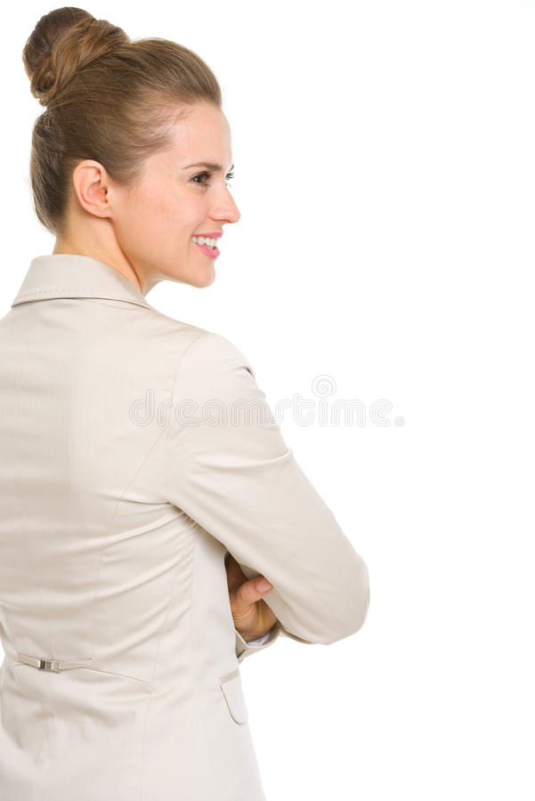 Download Happy Business Woman Looking On Copy Space Royalty Free Stock Image - Image: 31130446