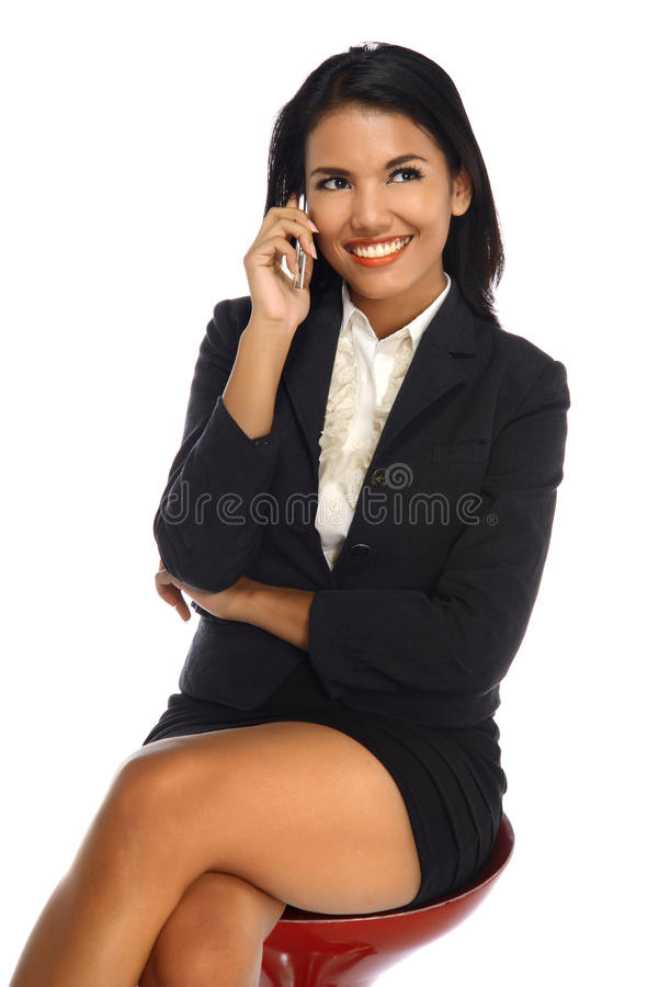 Download Happy Business Woman With A Smartphone Stock Image - Image: 33179153