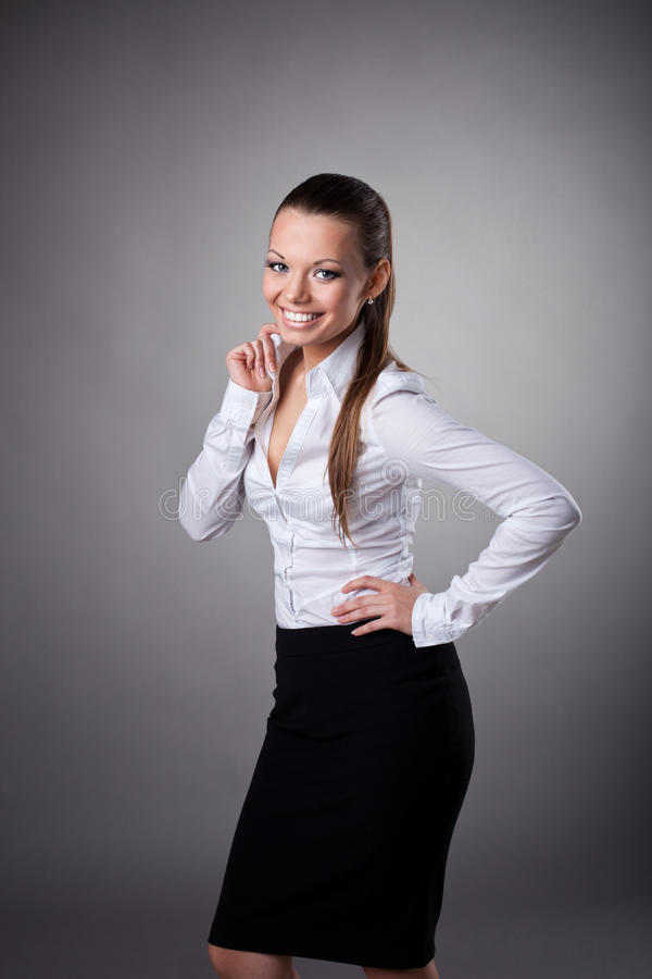 Download Happy Business Woman Smile To You Stock Photo - Image: 22624168