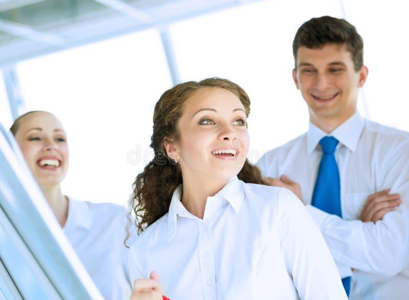Happy business woman stock photos