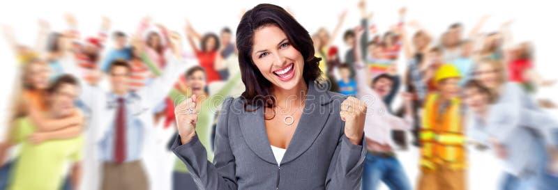 Happy business woman. stock photo
