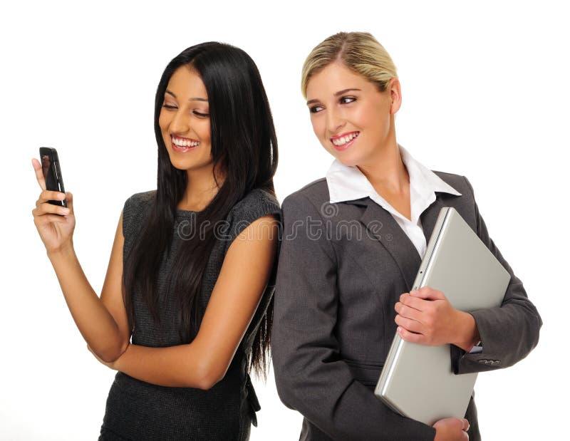 Happy business women royalty free stock photo