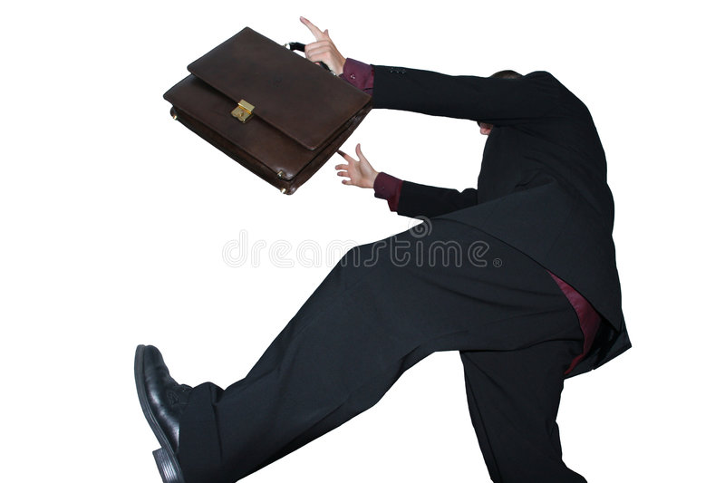 Happy businessman stock photography