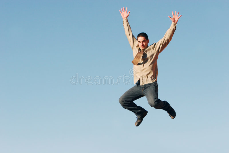 Happy businessman stock image