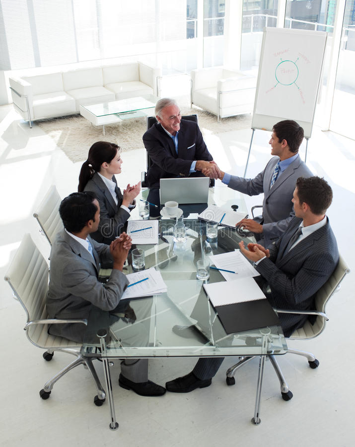 Download Happy Businessman Closing A Deal Stock Image - Image: 12118725