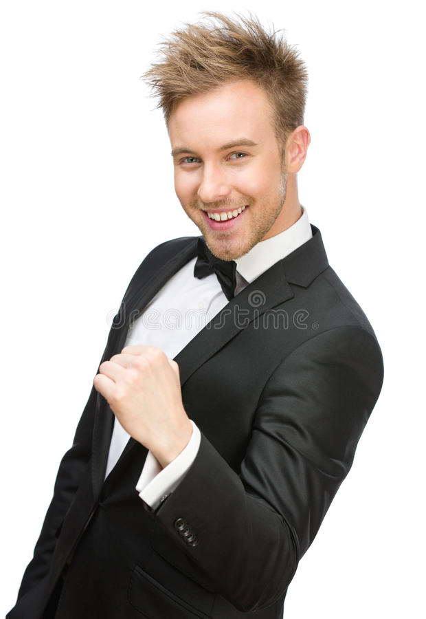 Download Happy Businessman Fists Gesturing Stock Photo - Image of cheerful, achievement: 37285078