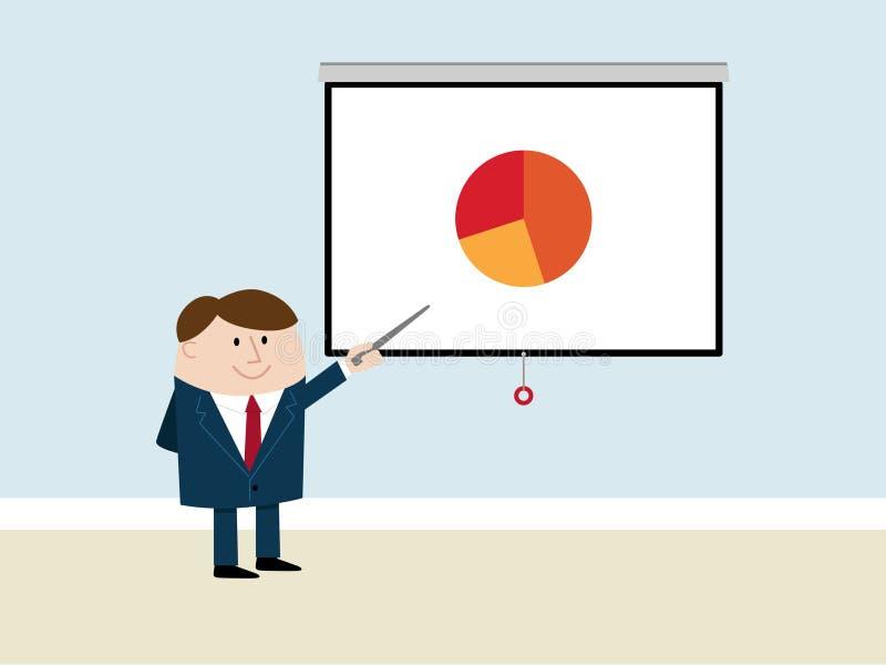 Download Happy Businessman Makes Presentation Stock Illustration - Illustration: 15347978