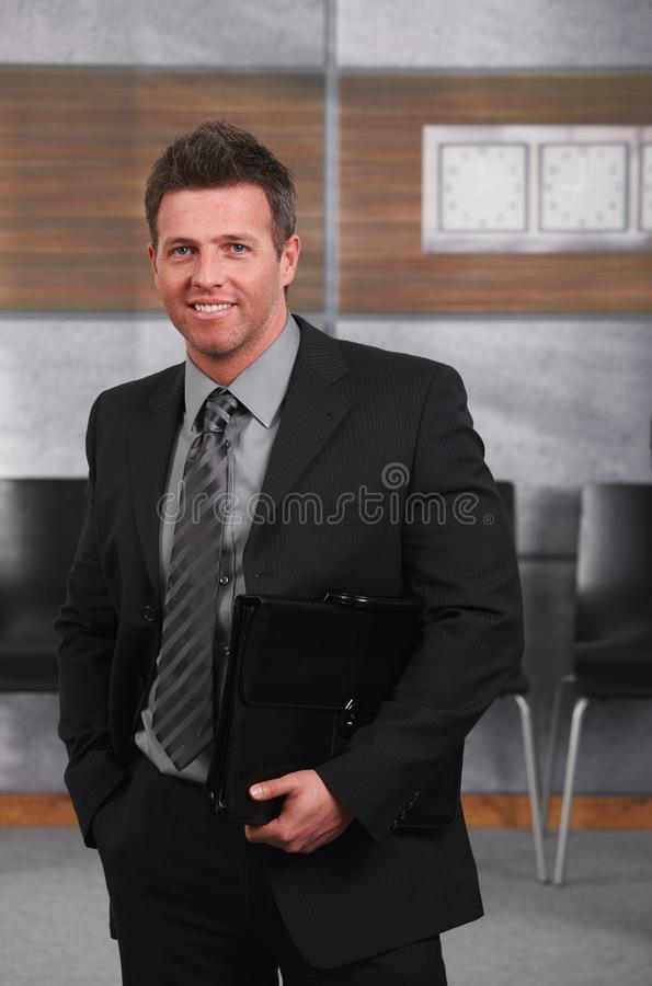Download Happy Businessman In Office Stock Photo - Image: 22787890
