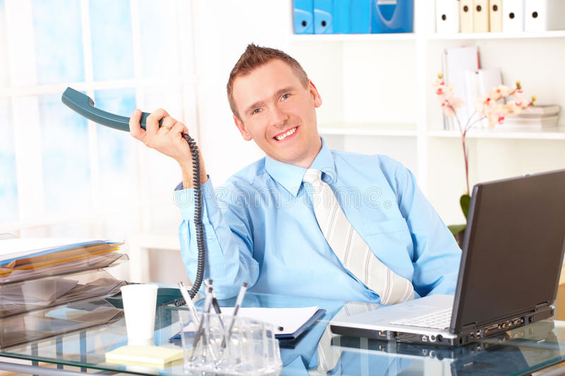 Download Happy Businessman On The Phone Stock Image - Image: 15654337