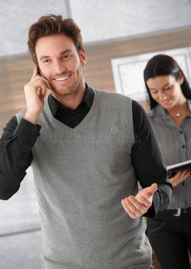 Download Happy Businessman On Phone Royalty Free Stock Photos - Image: 20050308