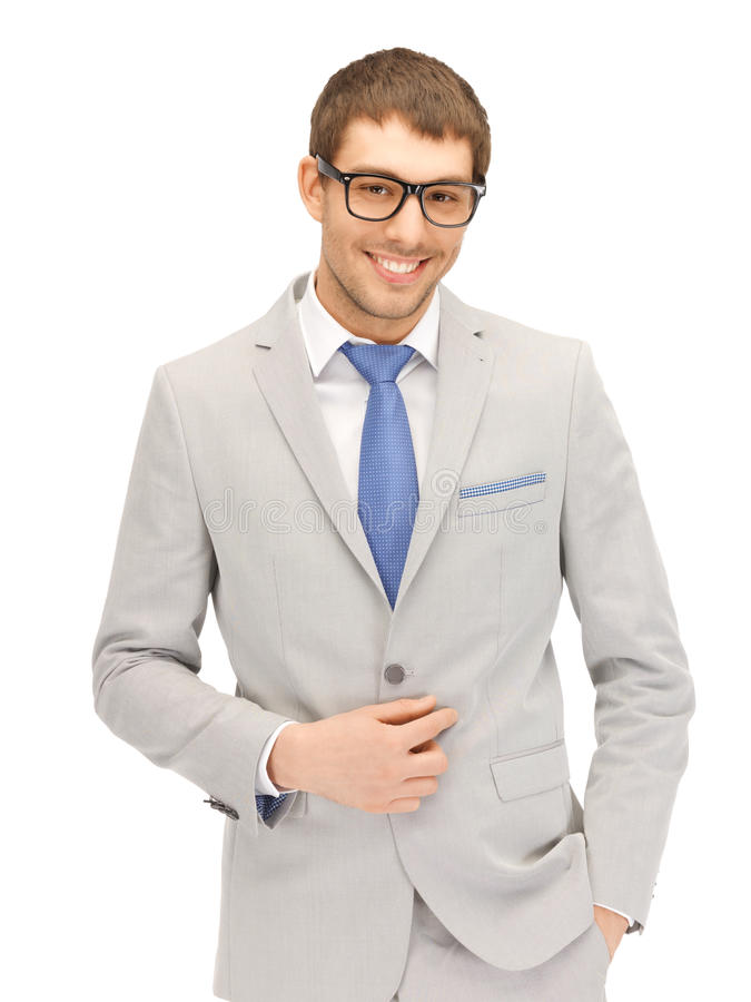 Download Happy Businessman In Spectacles Stock Photo - Image: 25094696