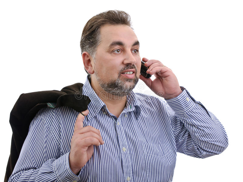 Download Happy Businessman Talking Mobile Phone Stock Photo - Image: 17069950