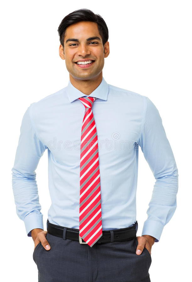Free Happy Businessman With Hands In Pockets Stock Images - 39367764