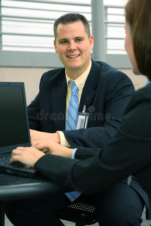 Happy Businessman Working Outdoor stock photo