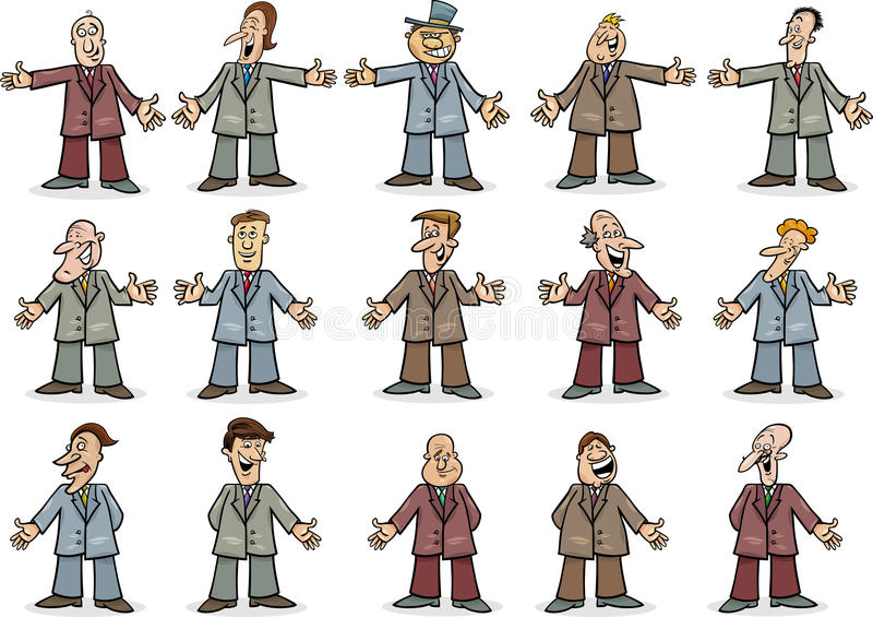 Happy Businessmen Collection Royalty Free Stock Photo