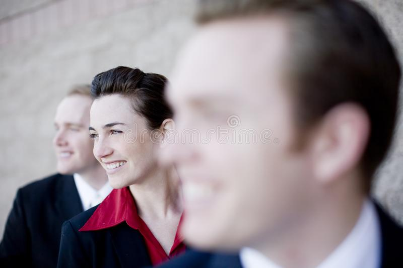 Happy businesspeople royalty free stock image
