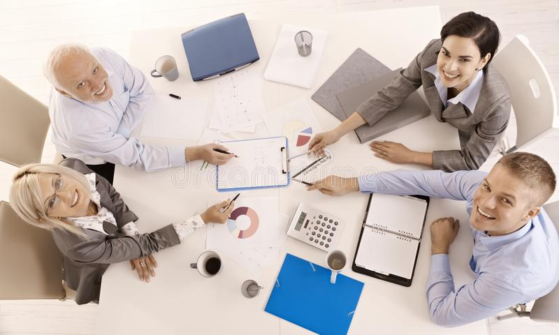 Happy Businessteam Working Together Stock Images