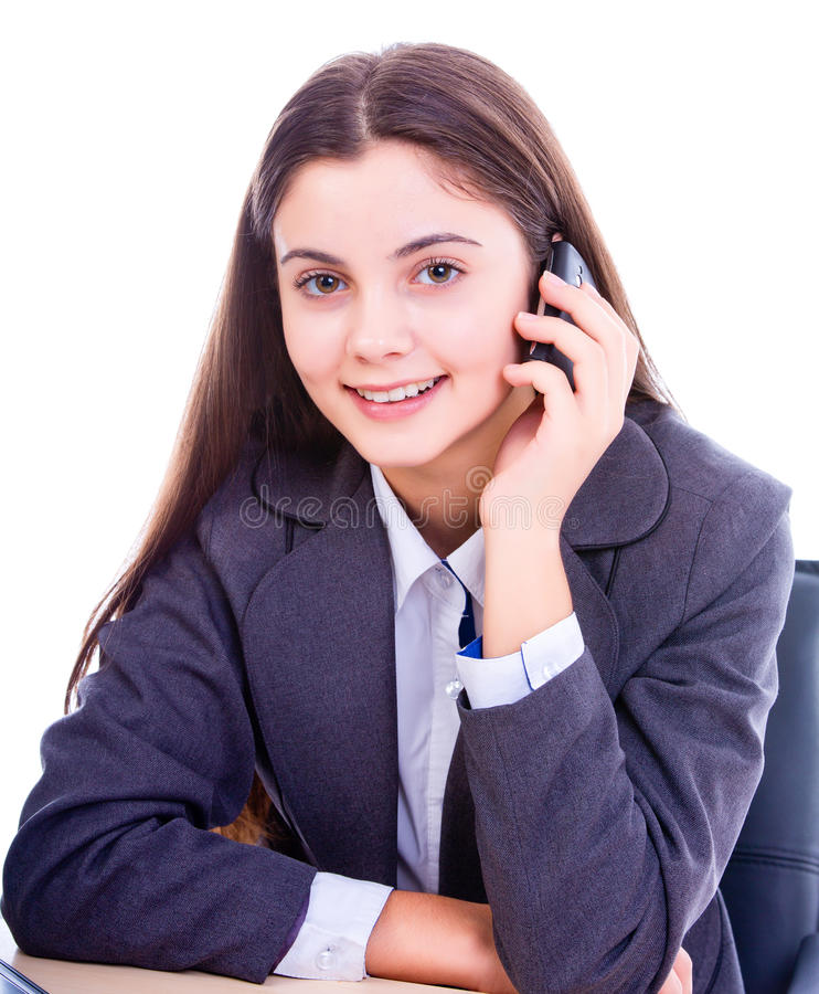 Download Happy Businesswoman On The Phone Stock Image - Image: 28145899