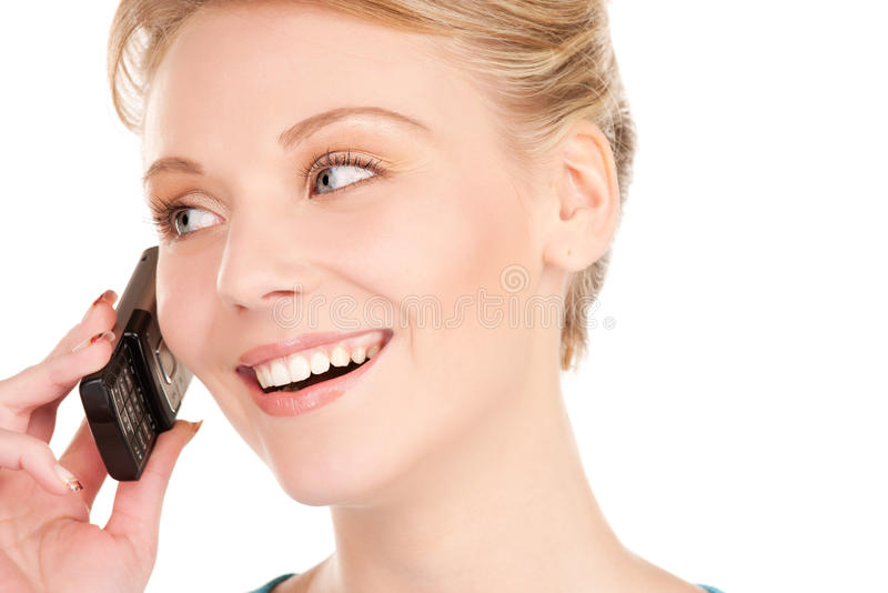 Download Happy Businesswoman With Phone Stock Photo - Image: 40700501