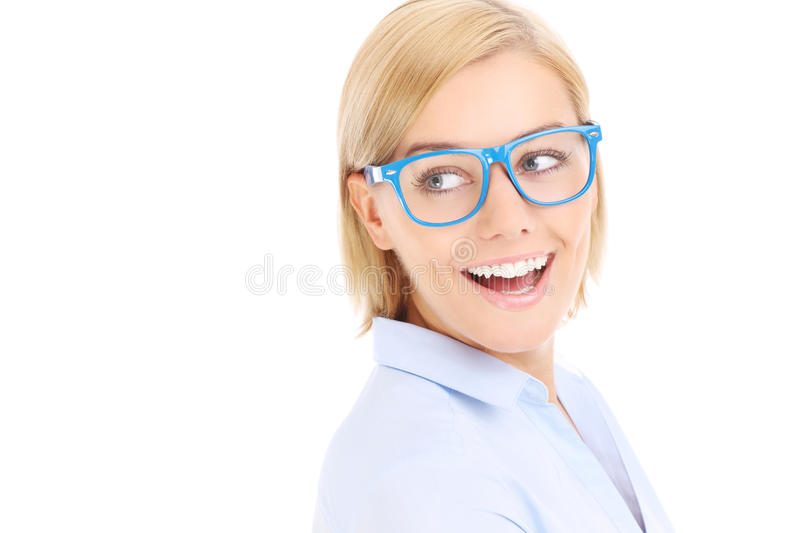 Download Happy businesswoman stock image. Image of copy, attractive - 39504235