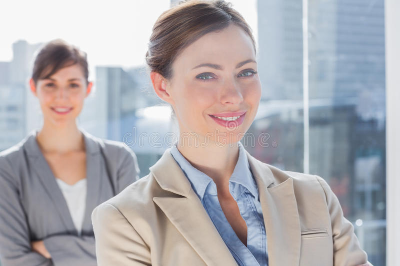 Download Happy Businesswomen With Arms Crossed Stock Photo - Image of corporate, adult: 31802472