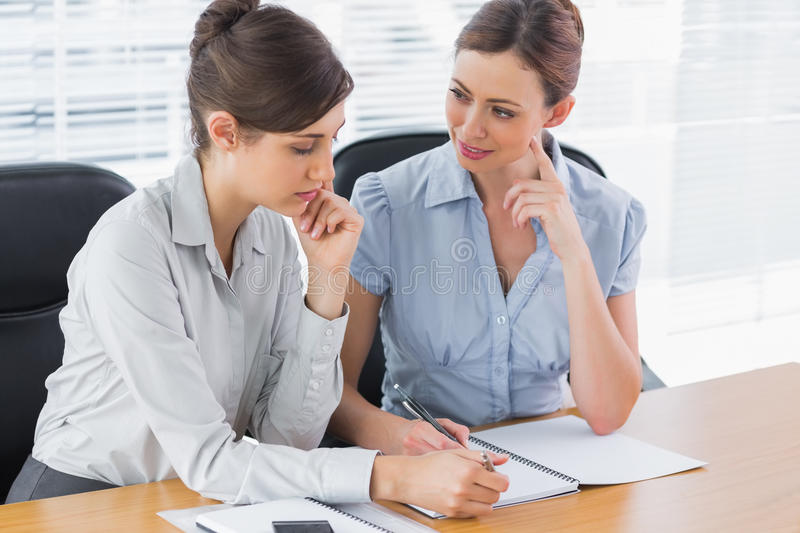 Happy Businesswomen Working Together Royalty Free Stock Image