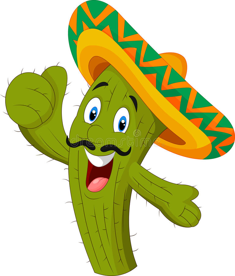 Happy cactus giving thumb up. Illustration of Happy cactus giving thumb up vector illustration
